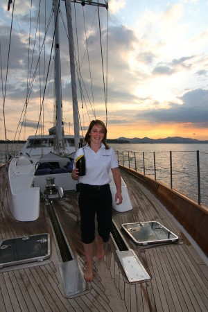 Champagne aboard the Unplugged in Monaco