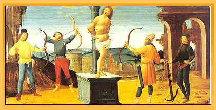 Bartolomeo di Giovanni painting of St. Sebastian