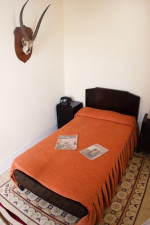 Hemingway's bed in Room 511 of the Hotel Ambos Mundos