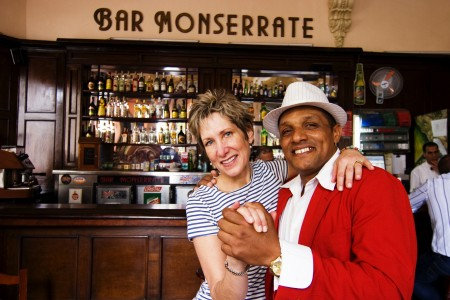 William Valoy and a fan at Bar Monserrate