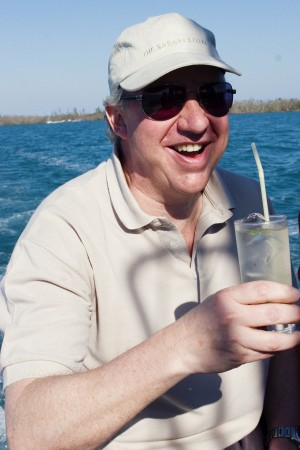 Our British solicitor, Ian, enjoys a mid-morning mojito.