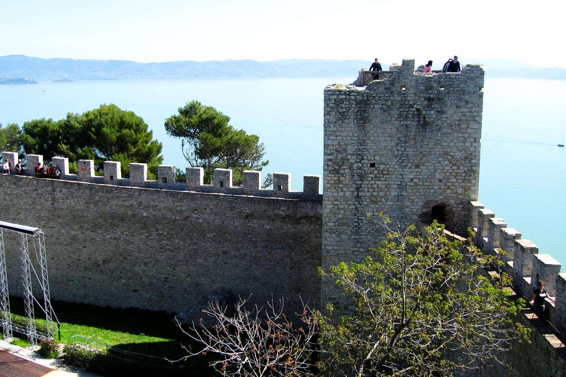 A view of Lago Trasimeno from the palazzo fortress. Photos by David Lansing.