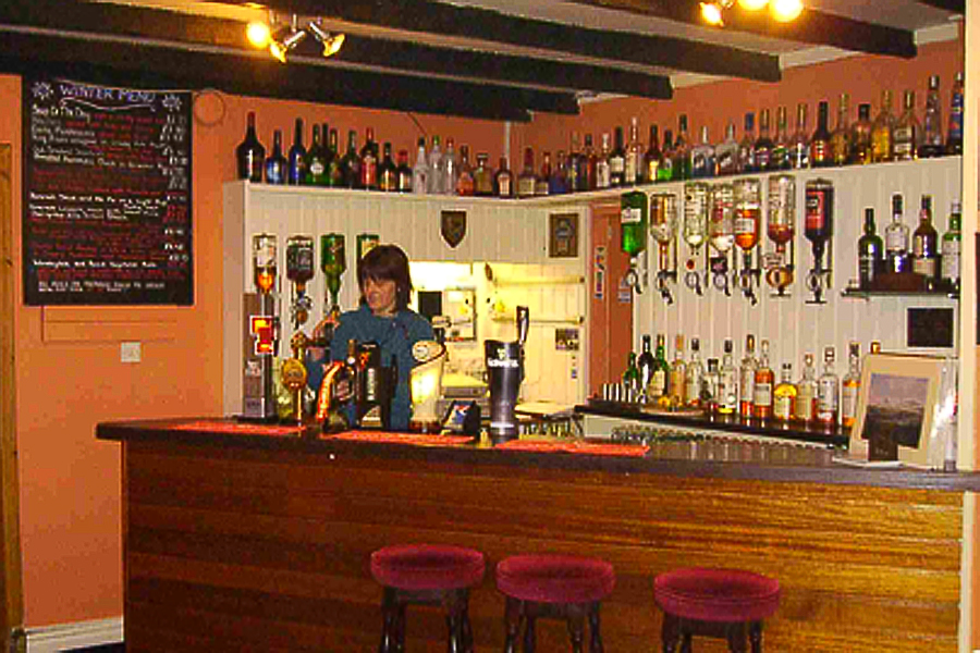 The bar at the West Loch Hotel near Kennacraig.