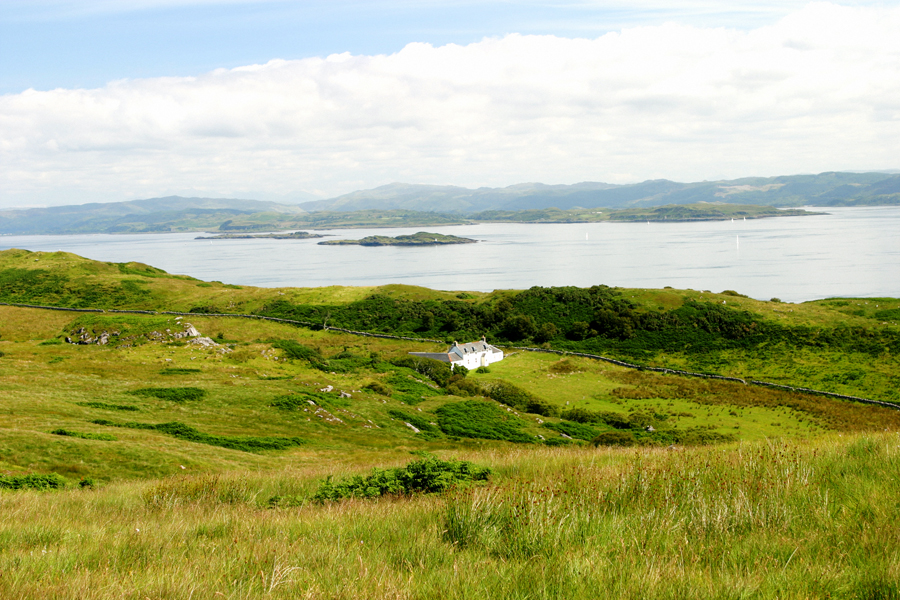 George Orwell's house, Barnhill, on the east coast of Jura. Photos by David Lansing.