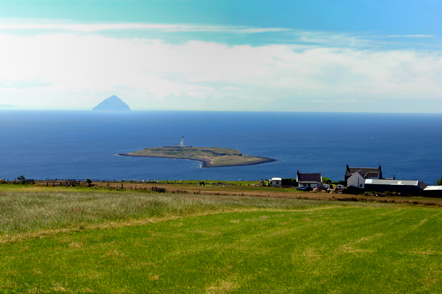Pladda lighthouse and Ailsa Craig. Photos by David Lansing.