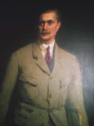 A portrait of Sir George Bullough.