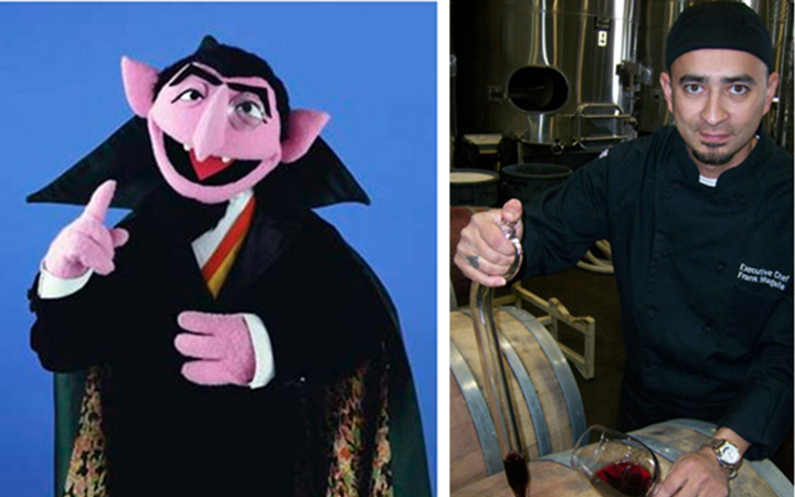 The Count, on the left, and Frank Magaña, on the right. Spooky, huh.