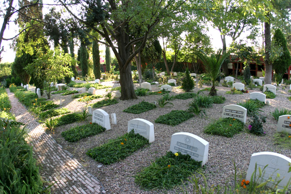 The lonely American section of the cemetery.