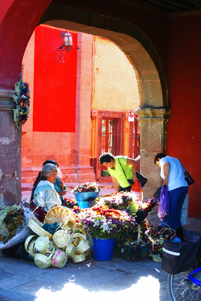Flower sellers of San Miguel. Photos by David Lansing.