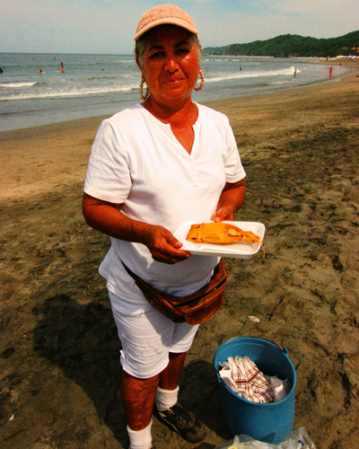 The Tamale Lady of Sayulita. Photo by David Lansing.