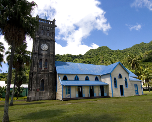 Church of the Sacred Heart in Levuka. Photo by David Lansing.