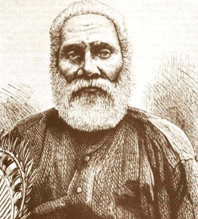 The sad eyes of Chief Cakabou, once the King of Fiji.