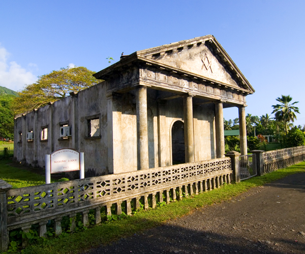 What's left of the old Masonic Lodge in Levuka. Photo by David Lansing.