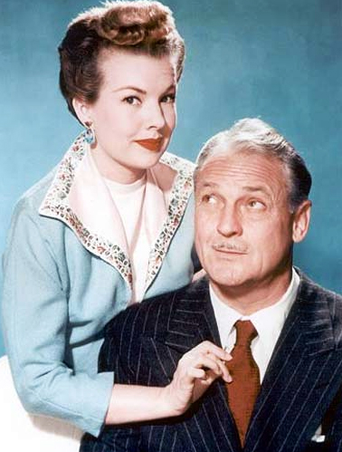 "Charlie with his ""My Little Margie"" co-star Gale Storm, who he reportedly detested (the feeling was mutual)."