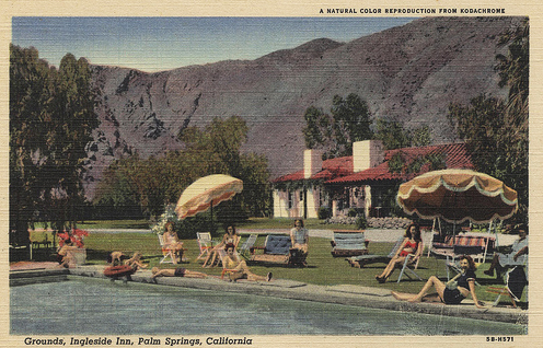 An undated penny postcard of the Ingleside Inn.