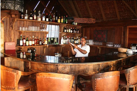 Ratua's Yacht Club Bar.