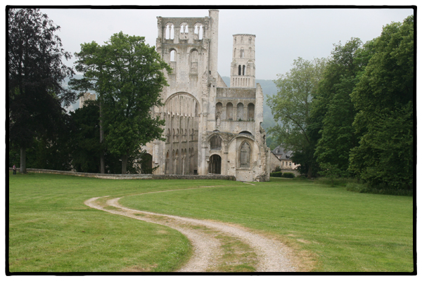 Abbey ruins in Jumieges