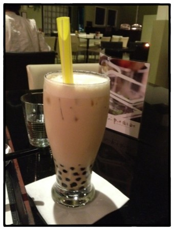 Bubble tea at Zephyr Tea House Cafe in Richmond, BC