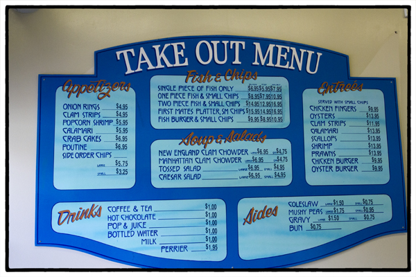 fish and chip shop menu template - the best fish chips in steveston