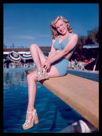 Marilyn Monroe at Racquet Club, Palm Springs