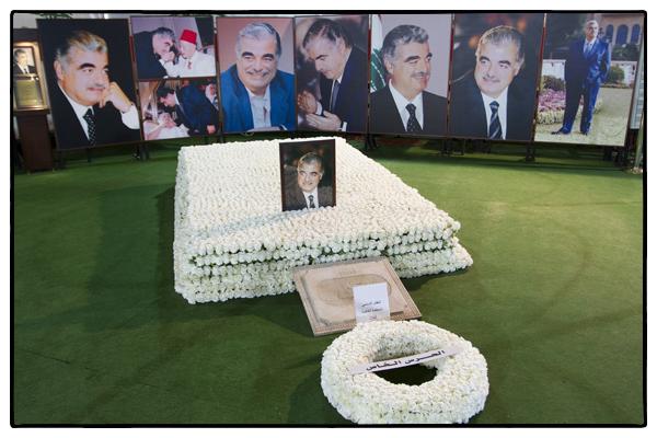 Rafik al-Hariri's grave in Beirut