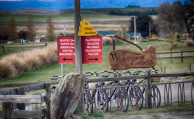 Bikes at Wedderburn Cottages, New Zealand